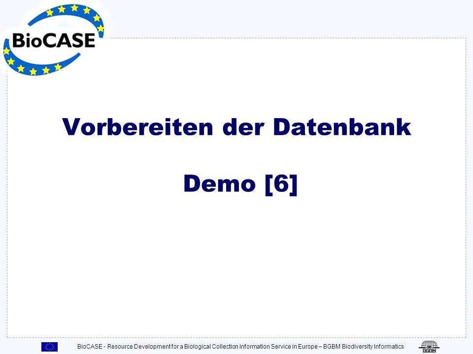 Vorbereiten der Datenbank Demo [6]